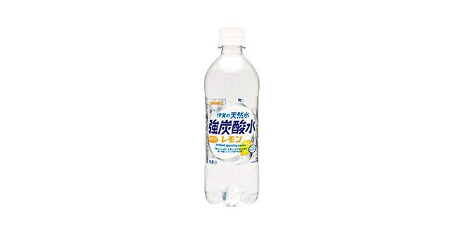 サンガリア 伊賀の天然水強炭酸水レモン